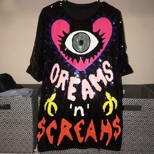 NWOT Dreams sequin mini dress